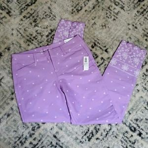 Old Navy Midrise Pixie Purple Ankle Pant Size 2